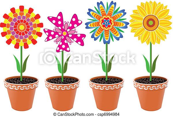 flowers in pots - csp6994984