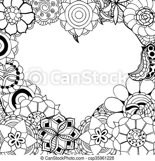 flowers in the shape of heart - csp35961228