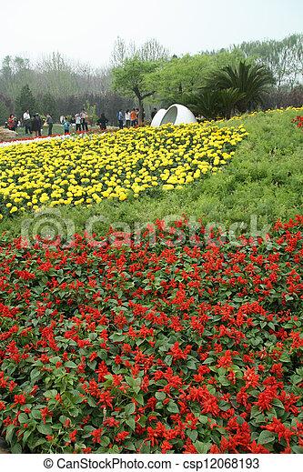 flowers landscape in a park - csp12068193