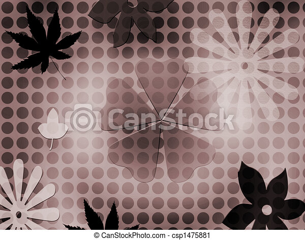 Flowers & Leafs - background - csp1475881