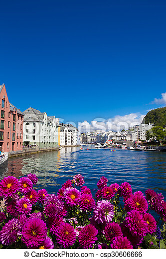 flowers of Alesund - csp30606666