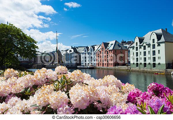 flowers of Alesund - csp30606656