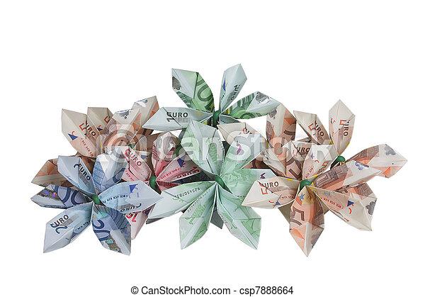 Amazon.com: origami money rose tree flower plant in pot wedding ... | 320x450