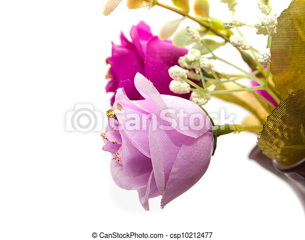 flowers on a white background - csp10212477