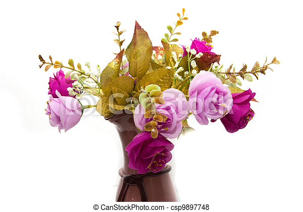 flowers on a white background - csp9897748