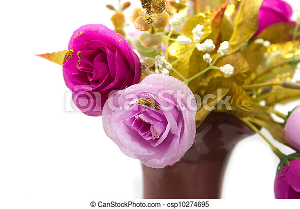 flowers on a white background - csp10274695