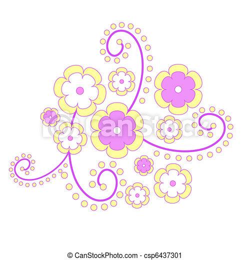 Flowers on white - csp6437301