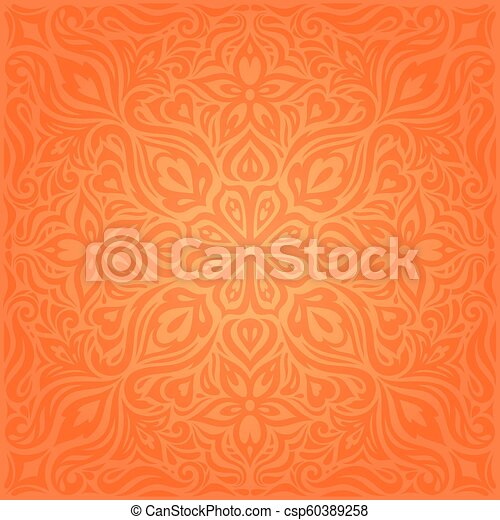 flowers orange retro style colorful clipart vector csp60389258