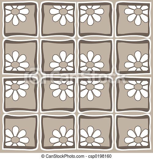 Flowers- Retro style - csp0198160