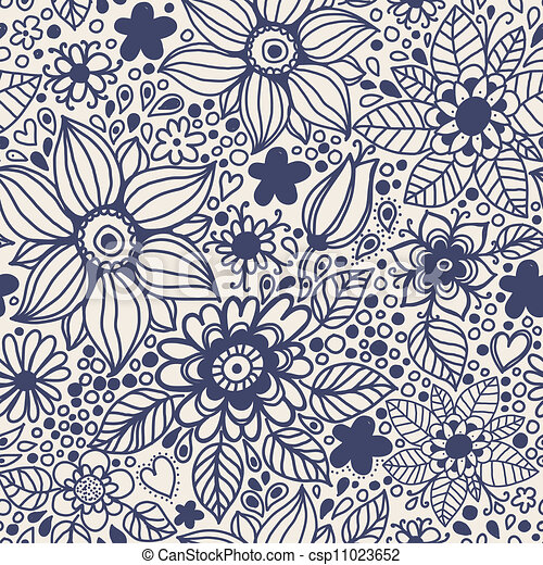 textura inmaculada con flores. - csp11023652