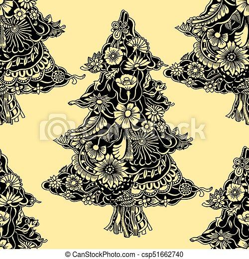 Dibujos De Arboles De Navidad Pintados.Flowers Tejido Arboles De Navidad