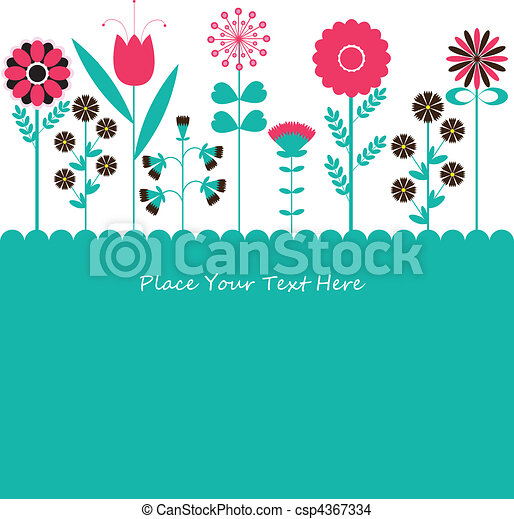 flowers., vecteur, illustration - csp4367334