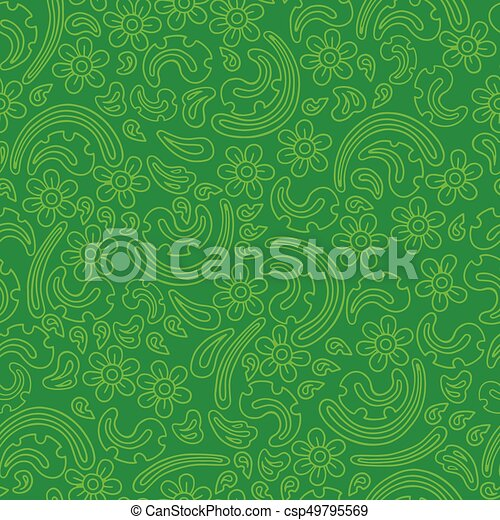 Flowers vector seamless pattern. - csp49795569