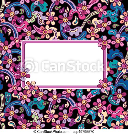 Flowers vector seamless pattern. - csp49795570