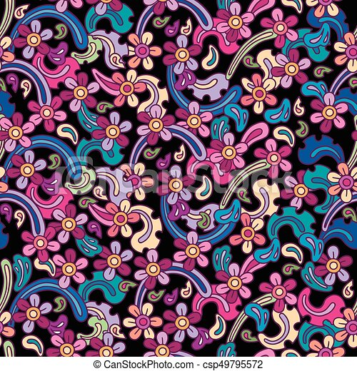 Flowers vector seamless pattern. - csp49795572