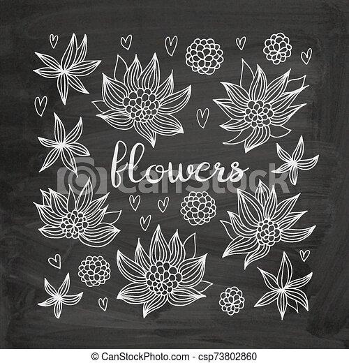 Flowers vector set - csp73802860