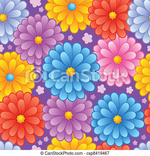 flowery seamless background 4 vector illustration