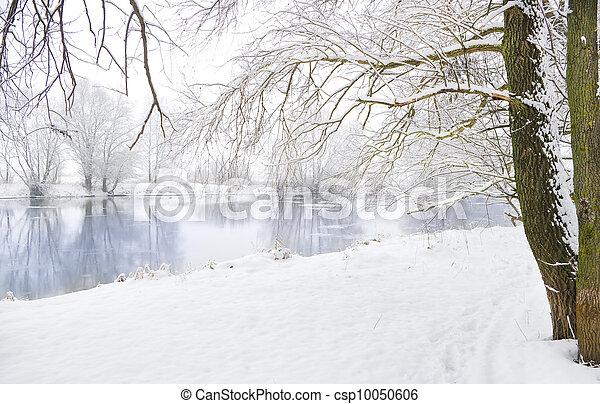 fluß, winter - csp10050606