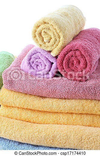 Fluffy towels - csp17174410