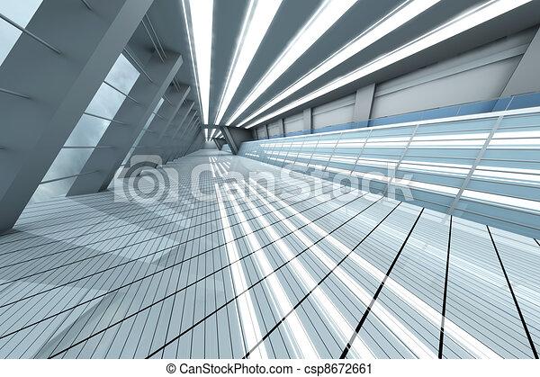 flughafen, architektur - csp8672661