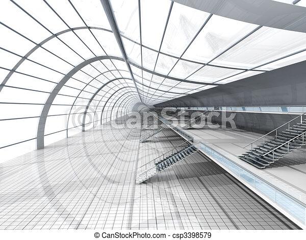 flughafen, architektur - csp3398579