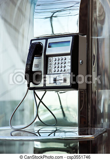 Flughafentelefon - csp3551746