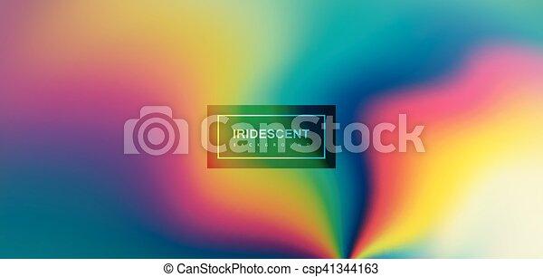 Fluid iridescent multicolored background. - csp41344163