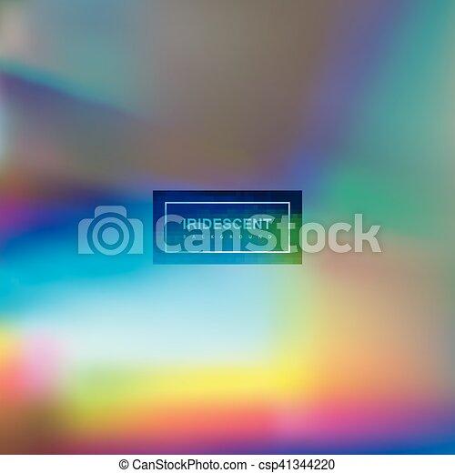 Fluid iridescent multicolored background. - csp41344220