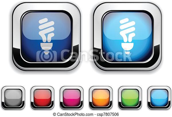 Fluorescent bulb button. - csp7807506