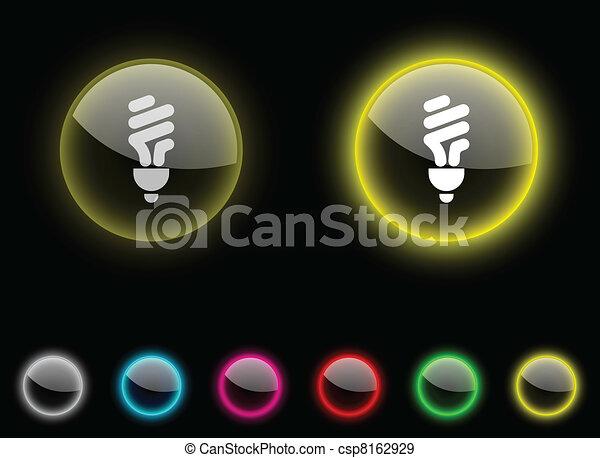 Fluorescent bulb button.. - csp8162929
