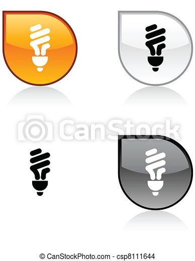 Fluorescent bulb button. - csp8111644