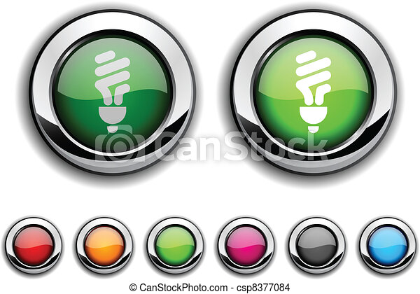 Fluorescent bulb button. - csp8377084
