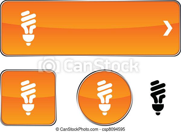 Fluorescent bulb button set. - csp8094595