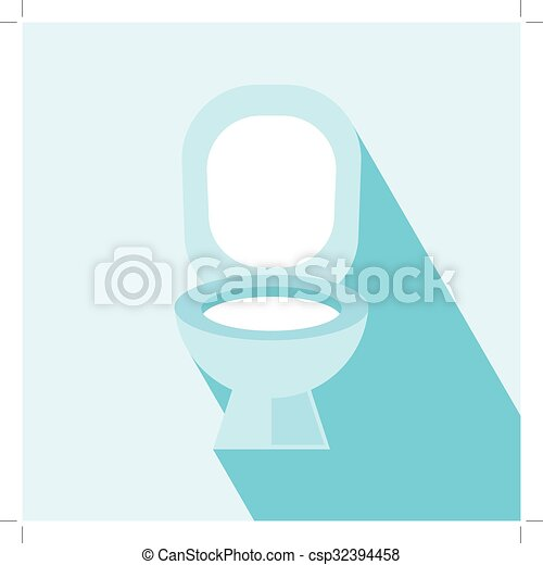 Flush Toilet Icon Wc Signvector