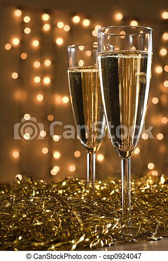 flutes., champagne, deux - csp0924047