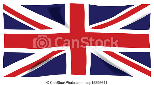 fluttering union jack the british union jack flag eps vector rh canstockphoto com union jack vectoriel union jack vector eps
