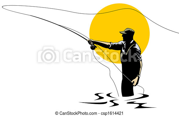 Fly fishing - csp1614421