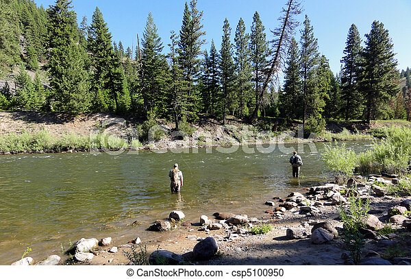 Fly Fishing in the Rocky Mountains - csp5100950