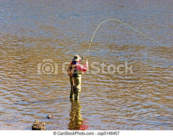 Fly fishing - csp0146457