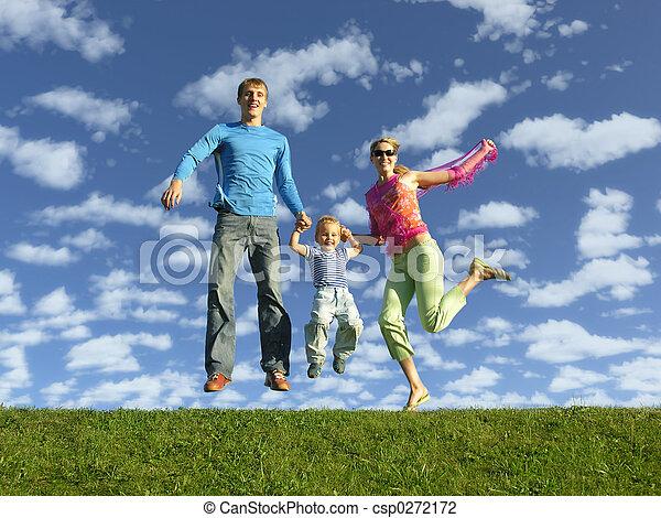 fly happy family on  - csp0272172