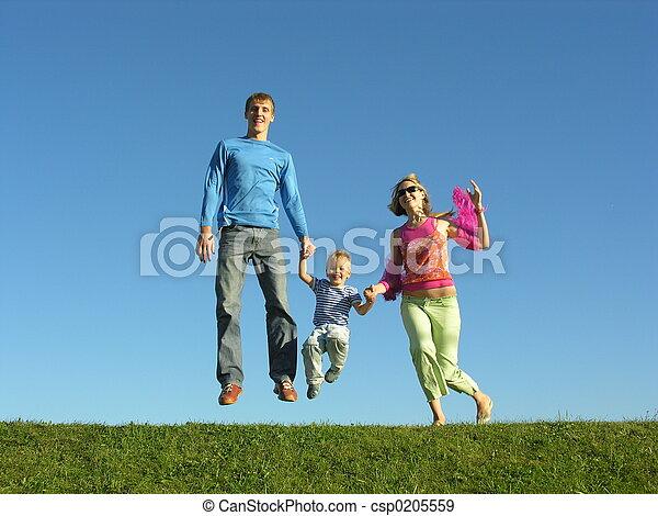 fly happy family on  - csp0205559