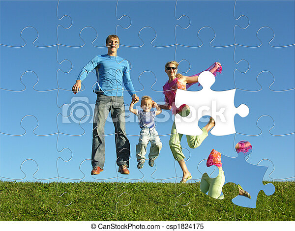 fly happy family puzzle - csp1824175
