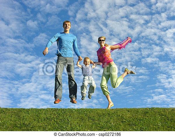 fly happy family und - csp0272186