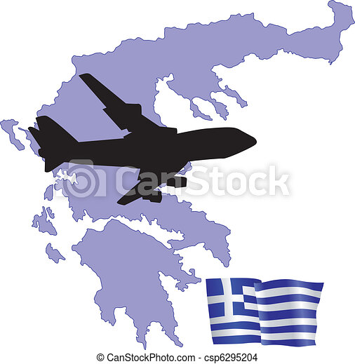 fly me to the Greece - csp6295204
