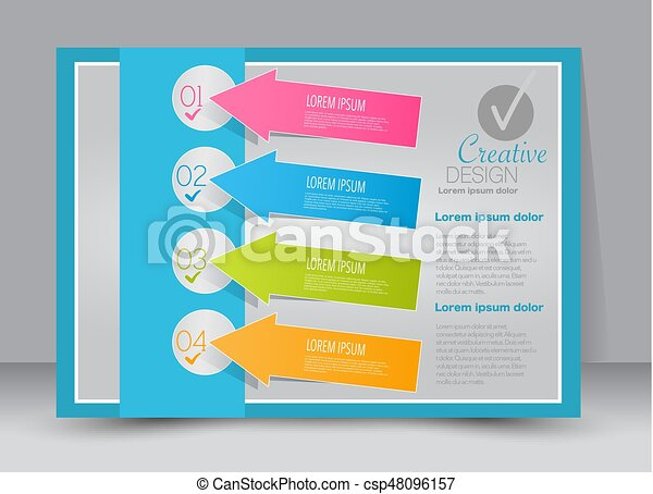 flyer brochure billboard template design landscape orientation for