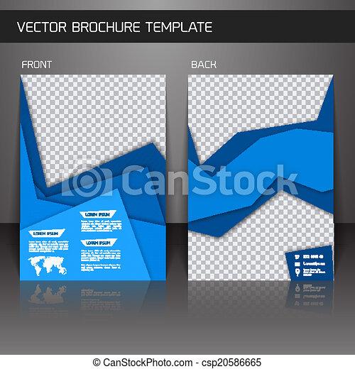 Flyer brochure template - csp20586665