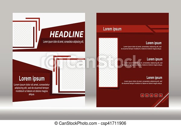 Flyer Design Brochure Template Vector Background Flyer Design