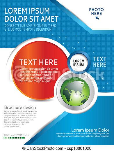 Flyer design or business presentation - csp18801020