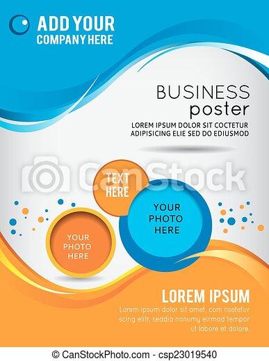 Flyer or brochure template - csp23019540