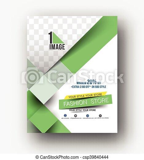 Flyer, Poster & magazine design Layout - csp39840444